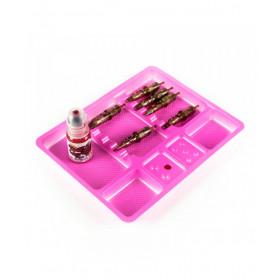 Vassoio monouso in plastica ROSA 100pcs