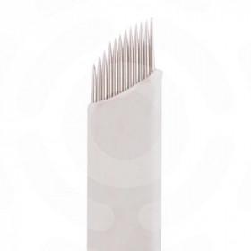 Microblading - Ago 16 punte Curve,confezione 50 pezzi