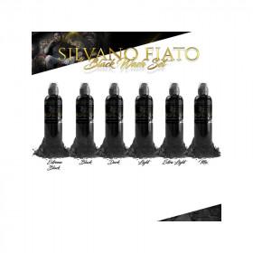 Silvano Fiato Black Wash Set - 4oz - 6x120ml